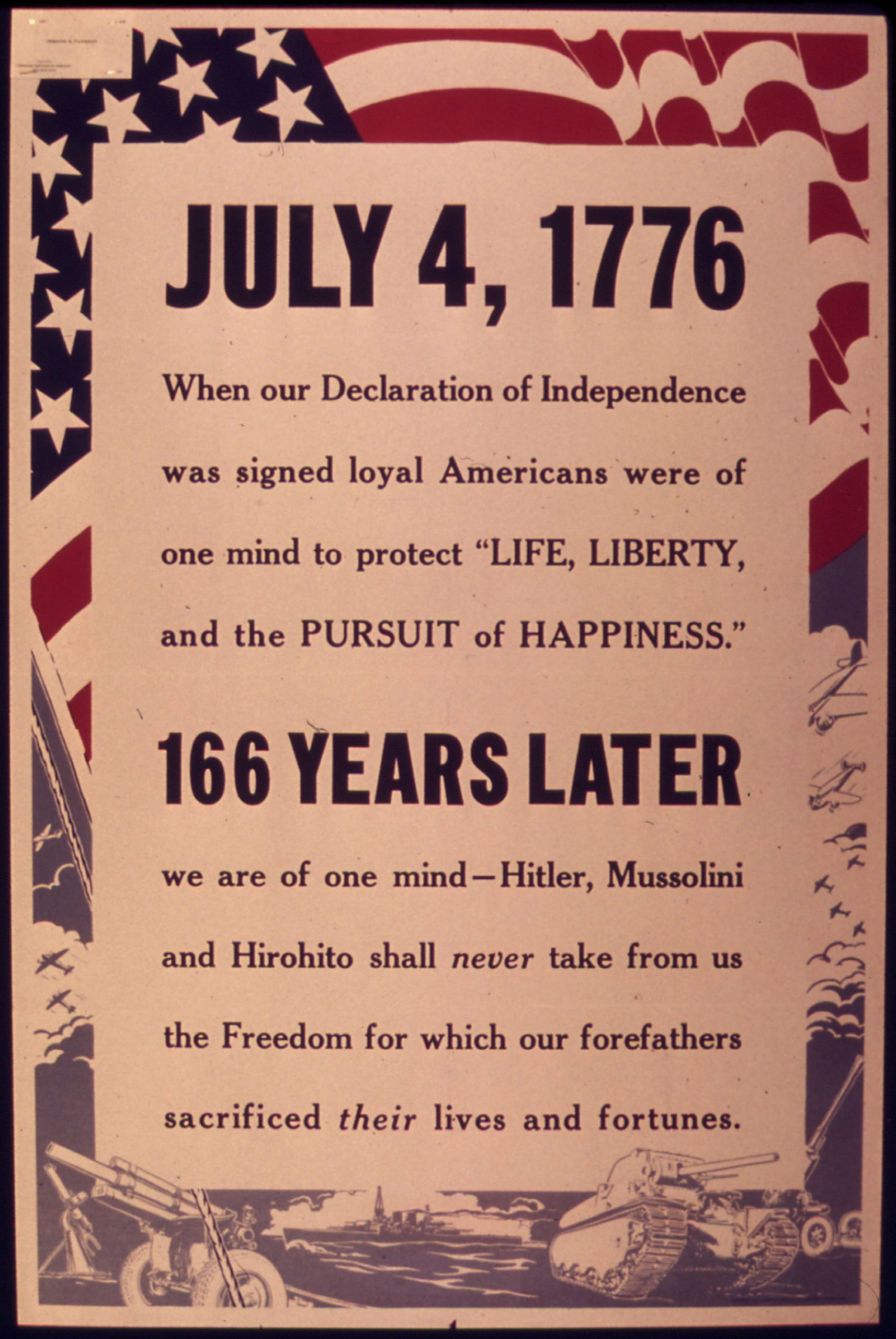 July 4th 1776 pamphlet about freedom