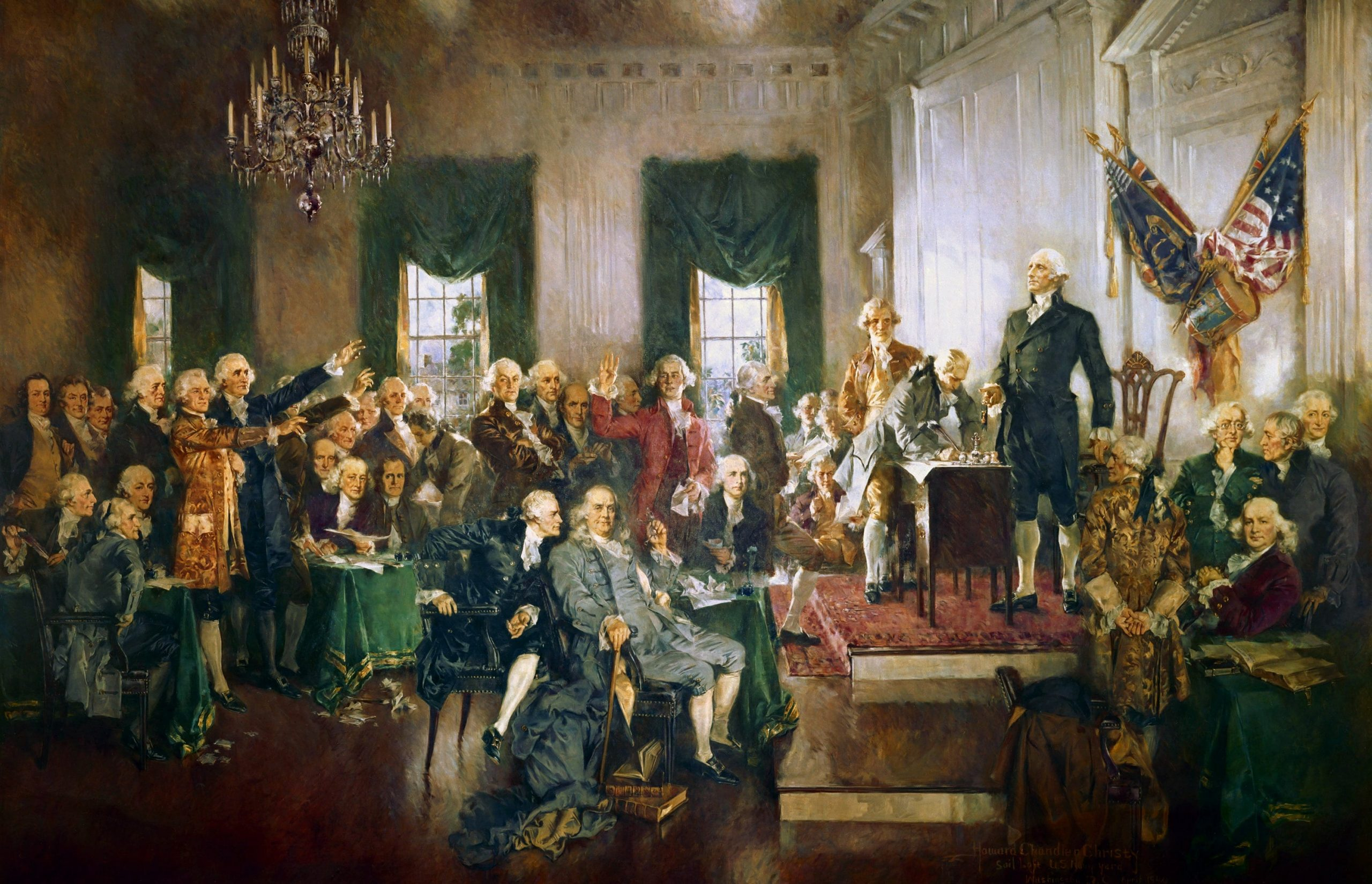 photo of founding fathers of America