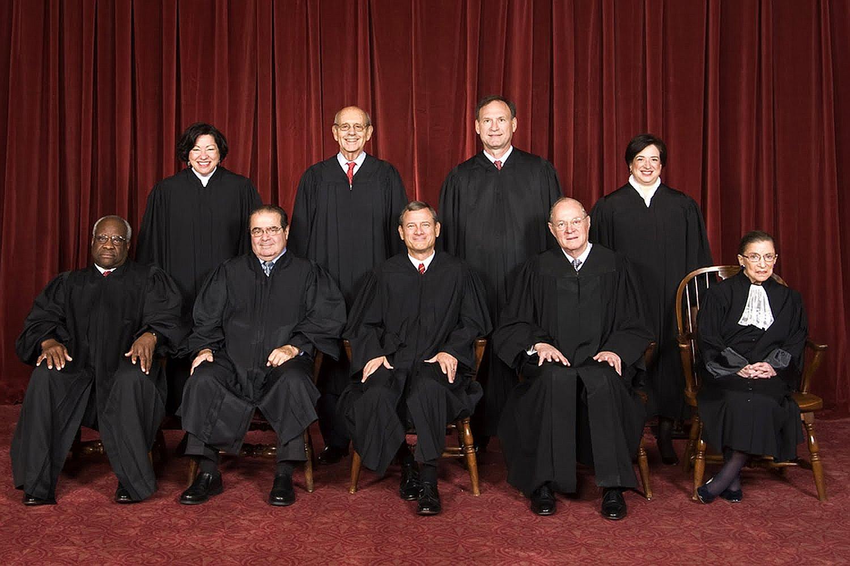 Photo of supreme court members