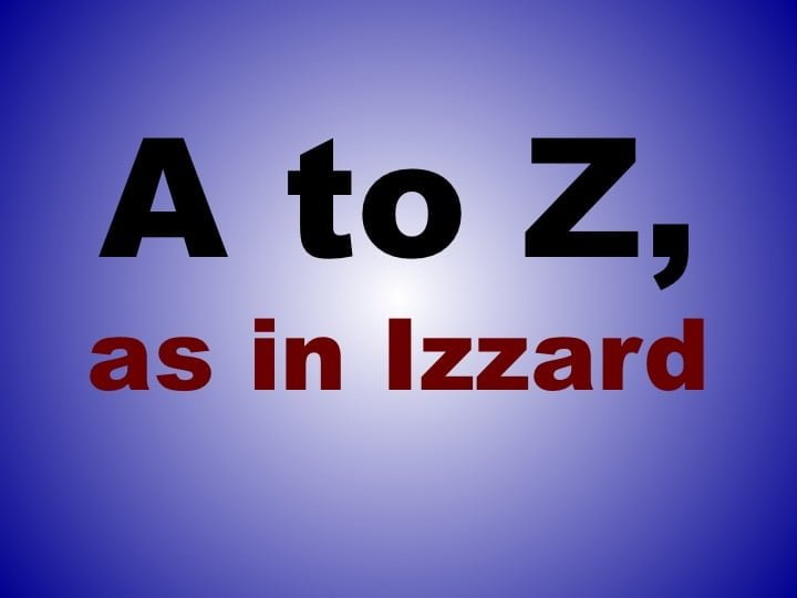 From A to Izzard  banner