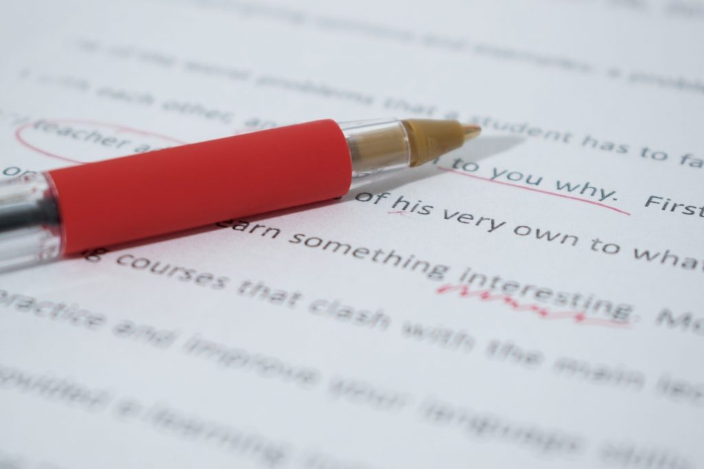Editing a manuscript