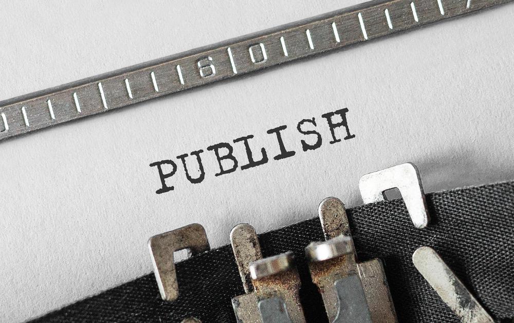 publish written using a typewriter